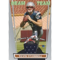 Kevin O'Connell New England Patriots 2008 Stadium Club Beam Team Card #BTR-KO