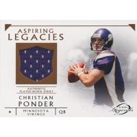 Christian Ponder 2011 Topps Legends Aspiring Legacies Jersey Card #ALR-CP
