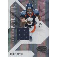Eddie Royal Broncos 2008 Leaf Certified Materials Potential Card #CP-19 /250