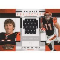 Jordan Shipley Bengals 2010 Panini Threads Rookie Collection Card #22 /299