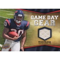 Steve Slaton Texans 2009 Upper Deck Football Game Day Gear Card #NFL-SL