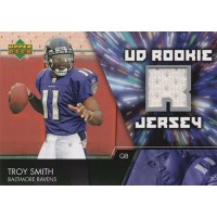Troy Smith Baltimore Ravens 2007 Upper Deck Football Rookie Jersey Card #UDRJ-TS