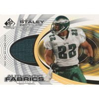 Duce Staley 2004 Upper Deck SP Game Used Edition Authentic Fabrics Card #AF-DS