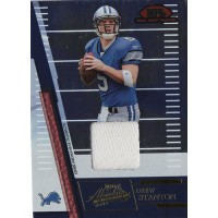 Drew Stanton 2007 Playoff Absolute Memorabilia Jersey Collection Card #RJC-8