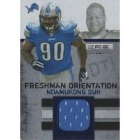 Ndamukong Suh 2010 Rookies & Stars Freshman Orientation Jersey Card #19 /249