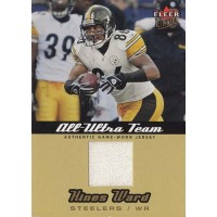 Hines Ward Pittsburgh Steelers 2005 Ultra All-Ultra Team Jersey Card