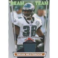Brian Westbrook Eagles 2008 Topps Stadium Club Beam Team Relics Card #BTR-BW
