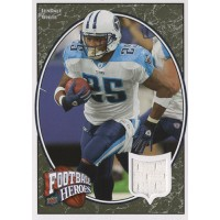 LenDale White Tennessee Titans 2008 Upper Deck Heroes Jersey Football Card #56