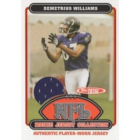 Demetrius Williams Ravens 2006 Topps Total Rookie Jersey Collection Card #39TE