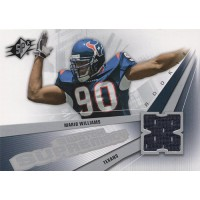 Mario Williams Texans 2006 Upper Deck SPX Rookie Swatch Supremacy Card #SW-MW