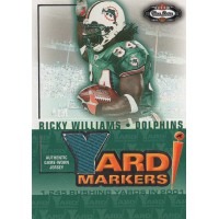 Ricky Williams Miami Dolphins 2002 Fleer Box Score Yard Markers Memorabilia Card