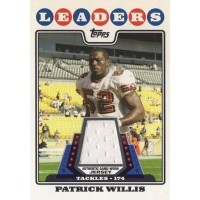 Patrick Willis San Francisco 49ers 2008 Topps League Leader Jersey Card #LLR-PW