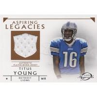 Titus Young Detroit Lions 2011 Topps Legends Aspiring Legacies Jsy Card #ALR-TY