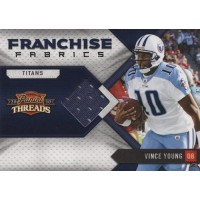 Vince Young 2010 Panini Threads Franchise Fabrics Football Card #5 /299