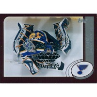 Brent Johnson Blues 2002-03 Topps Factory Set Gold Card #122 Diamond 1/1