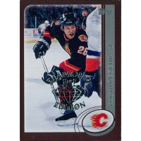 Robyn Regehr Calgary Flames 2002-03 Topps Factory Set Gold Card #44 Diamond 1/1