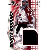 Patrick Roy Colorado Avalanche 2002-03 Upper Deck MVP Skate Around Card #SA-PR