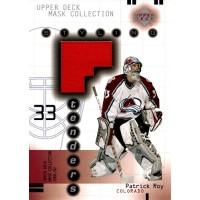 Patrick Roy Colorado Avalanche 2001-02 UD Mask Collection Goalie Jersey #SY-PR