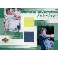 Fairway Fabrics 2002 Upper Deck Combo Jesper Parnevic Sergio Garcia Card #PG-FFC