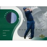 Dudley Hart 2001 Upper Deck Tour Threads Golf Card #TT-DH