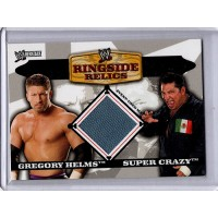 Ringside Relics Gregory Helms and Super Crazy 2006 Topps WWE Heritage Used Mat Material Card