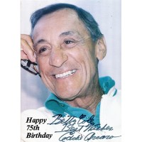 Eddie Arcaro Jockey Signed 75th Birthday Invitation JSA Authenticated