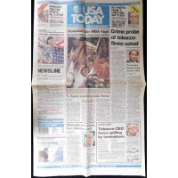 Marcelo Balboa Signed USA Today Newspaper 7/23/94 JSA Authenticated