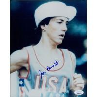 Joan Benoit Marathon Runner Signed 8x10 Glossy Photo JSA Authenticated