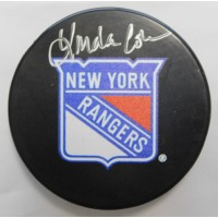 Linda Cohn Signed New York Rangers Puck LCO Exclusive COA ESPN SPORTSCENTER