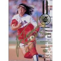 Lisa Fernandez Signed 1996 Upper Deck Olympics Card #96 JSA Authenticated