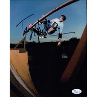 Tony Hawk Signed Skateboarding 8x10 Matte Photo JSA Authenticated