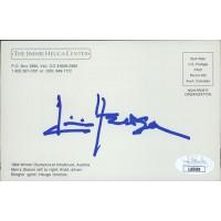 Jimmie Heuga Olympic Alpine Ski Racer Signed Postcard JSA Authenticated