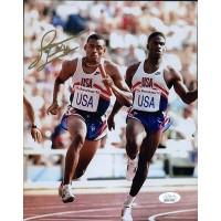 James Jett Team USA Olympian & Raiders Signed 8x10 Matte Photo JSA Authenticated