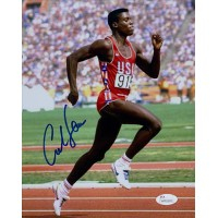 Carl Lewis Team USA Olympian Signed 8x10 Matte Photo JSA Authenticated