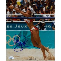Holly McPeak Volleyball Player Signed 8x10 Glossy Photo JSA Authenticated