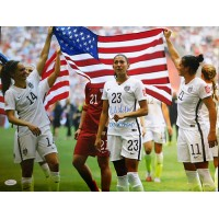 Christen Press Signed Team USA Soccer 16x20 Matte Photo JSA Authenticated
