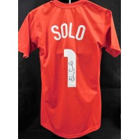 Hope Solo Signed Team USA Red Soccer Jersey JSA Authenticated