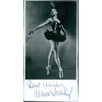 Maria Tallchief Ballerina Signed 3x6 Cut Glossy Photo JSA Authenticated