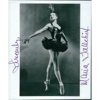 Maria Tallchief Ballerina Signed 4x5 Glossy Photo JSA Authenticated