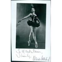 Maria Tallchief Ballerina Signed 4x6 Cut Glossy Photo JSA Authenticated