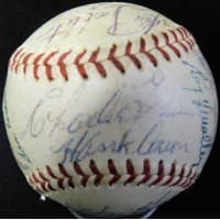 Milwaukee Braves 1954 Team Signed Spalding NL Baseball JSA Authenticated