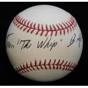 Warren The Whip Buffett Signed Official MLB Baseball JSA Authenticated