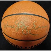 Julius Erving Signed Spalding Official NBA Game Basketball JSA Authenticated