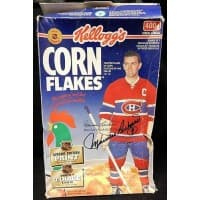 Maurice Richard Montreal Canadiens Signed Kelloggs Corn Flakes Box JSA Authenticated