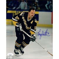 Bryan Trottier Pittsburgh Penguins Signed 8x10 Glossy Photo JSA Authenticated