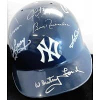 New York Yankees Hall Of Famers & Stars Signed Helmet By 13 JSA Authenticated