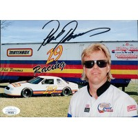 Phil Parsons NASCAR Driver Signed 5.5x7.5 Promo Racing Card JSA Authenticated
