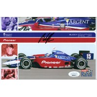 Buddy Rice Indy Car Racer Signed 5.5x8.5 Promo Stock Photo JSA Authenticated