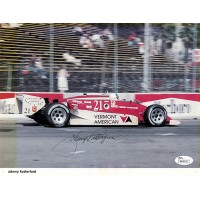 Johnny Rutherford Indy Racer Signed Magazine Page Photo JSA Authenticated