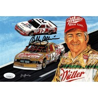 Bobby Allison Signed 5.5x8.5 Promo Racing Card JSA Authenticated